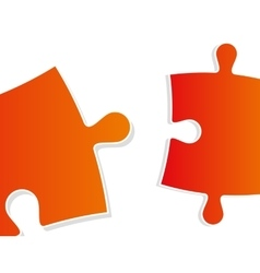 color puzzle close-up vector image