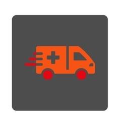 Emergency car flat button vector