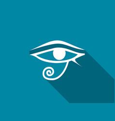 eye of horus with a long shadow vector image vector image