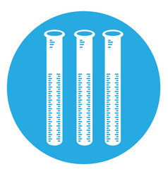isolated group of test tubes vector image vector image