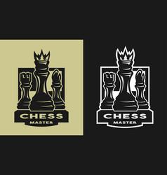 king bishop castle chess game emblem logo vector image