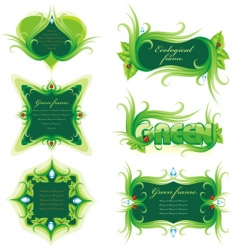 nature frames vector image vector image