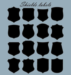 shields labels - set vector image vector image