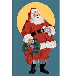 Traditional American Santa Claus vector image vector image