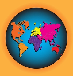 World map with globes vector image