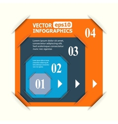 Abstract paper infografics vector image