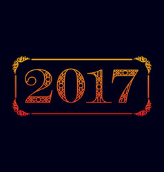 number 2017 background vector image vector image