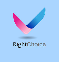 right choice vector image
