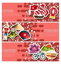 Set of Horizontal Banners about vietnam vector image vector image