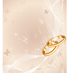 Wedding rings design vector image