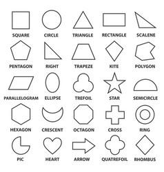 basic geometric shapes vector image