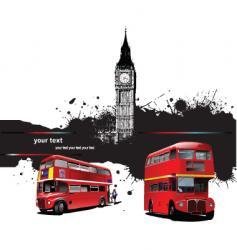 grunge london vector image