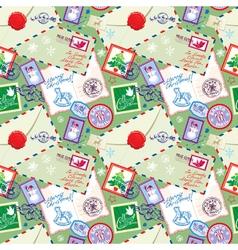 post stamp xmas seamless 2 380 vector image