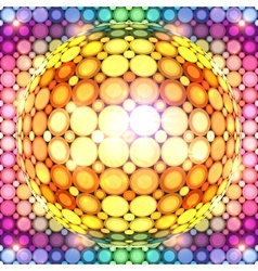 Shining colorful disco ball vector image