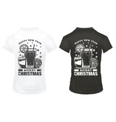 vintage christmas holiday prints template vector image vector image