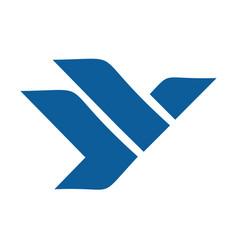 eagle or falcon logo design vector image vector image
