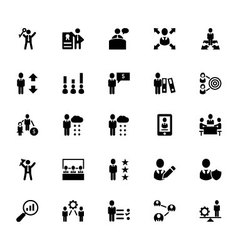 Human Resource Icons 4 vector image vector image