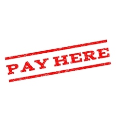 Pay here watermark stamp vector