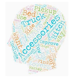 Pickup Truck Accessories text background wordcloud vector image vector image