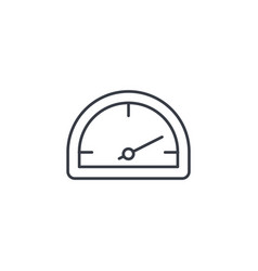 speedometer dashboard thin line icon linear vector image vector image