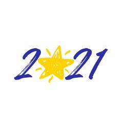 2021 brush star vector