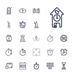 22 clock icons vector