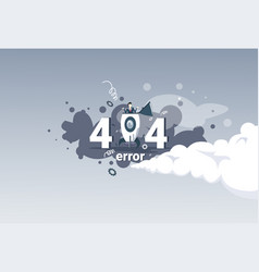404 not found error message internet connection vector image