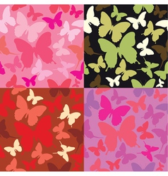 abstract backgrounds with butterflies silhouettes vector image