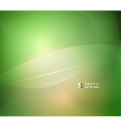Abstract green blurred background vector image