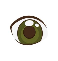 Anime eyes style comic vector