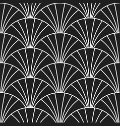 art deco retro gatsscales seamless pattern vector image