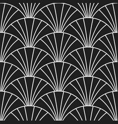 Art deco retro gatsscales seamless pattern vector