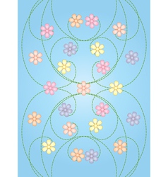 background with color flowers vector image