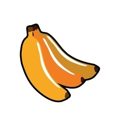 Banana healthy food organic food market icon vector