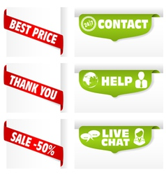 banner tag signs vector image