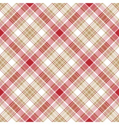 Beige red white fabric seamless pattern vector image