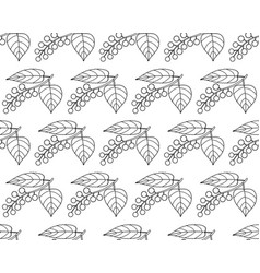 Bird cherry contour pattern vector