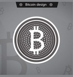 Bitcoins business crypto mining gold vector