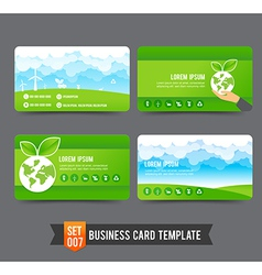 Business Card template set 007 Ecology concept vector
