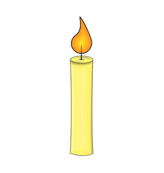 candle cartoon for christmas design isolated on vector image
