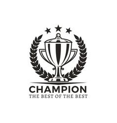 champion best of best award vector image