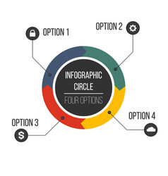 circular arrows for infographics with markers and vector image