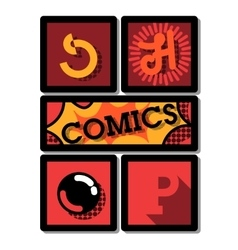 Color vintage comics shop emblem vector