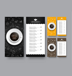 Design of a narrow menu for a cafe or restaurant vector