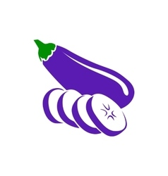 Eggplant icon simple style vector