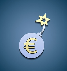 Euro currency on a bomb vector