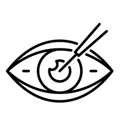 eyeball care icon outline style vector image