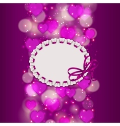 Festive background with hearts bokeh vector image