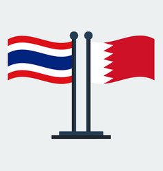 flag of bahrain and thailandflag stand vector image
