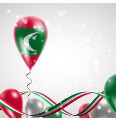 Flag of the Maldives on balloon vector